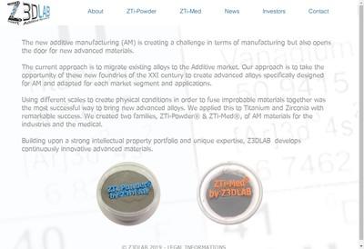 Site internet de Z3Dlab