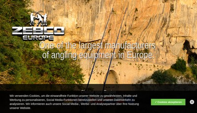 Site internet de Zebco Europe SAS