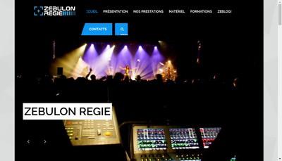 Site internet de Zebulon Regie