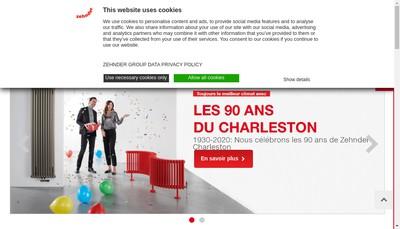 Site internet de Zehnder Group Vaux Andigny