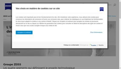 Site internet de Carl Zeiss Vision