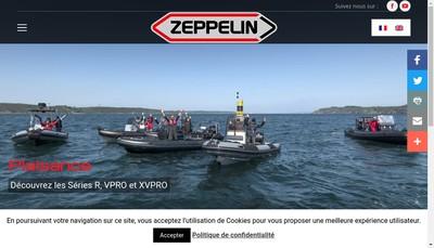 Site internet de Zeppelin