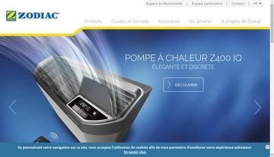 Site internet de Zodiac Pool Care Europe