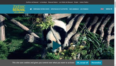 Site internet de Zoo Parc de Beauval