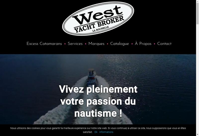 Capture d'écran du site de West Yacht Broker