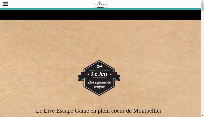 Capture d'écran du site de Xcape-Room