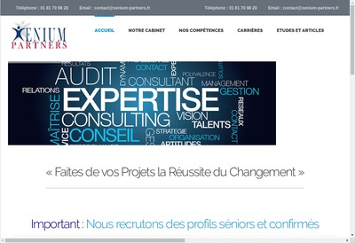 Site internet de Xenium Partners