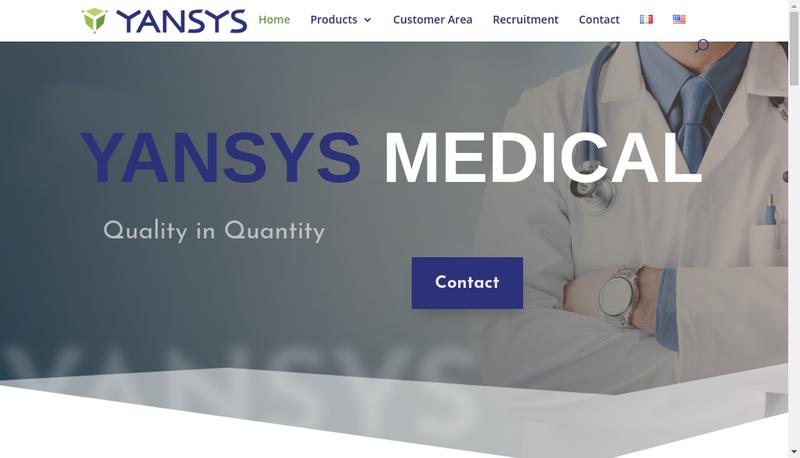 Capture d'écran du site de Yansys