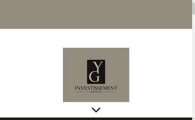 Site internet de Yg Investissement