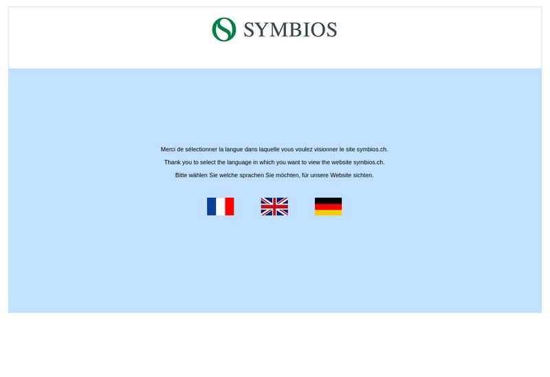 Capture d'écran du site de Symbios SARL