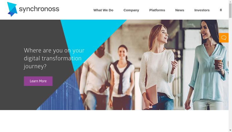 Capture d'écran du site de Synchronoss Technologies France