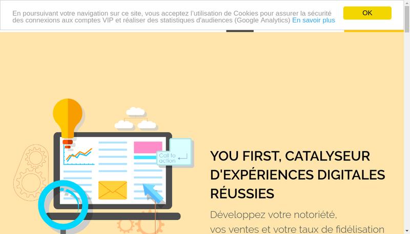 Capture d'écran du site de You First