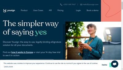 Site internet de Yousign