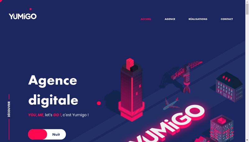 Capture d'écran du site de Yumigo