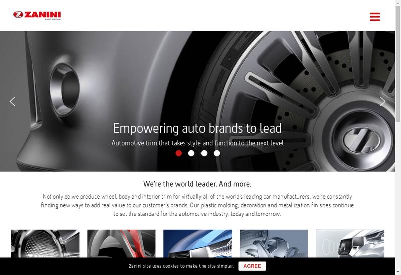 Capture d'écran du site de Zanini France