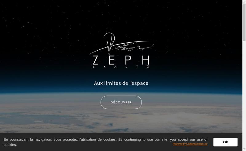 Capture d'écran du site de Zeph Exalto
