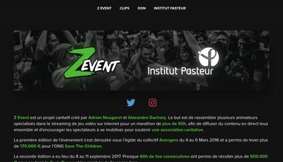 Site internet de Z Event