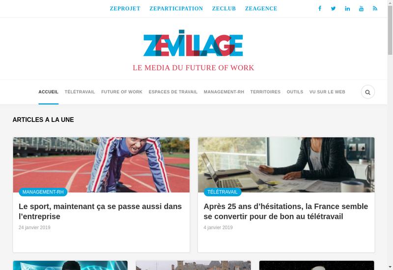Capture d'écran du site de Zevillage