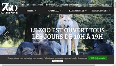 Site internet de Oceafaunia Parc Zoologique de Labenne