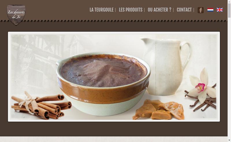 Capture d'écran du site de TIR les Desserts de Jo