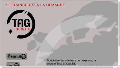 Capture d'écran du site de Tag Logistik