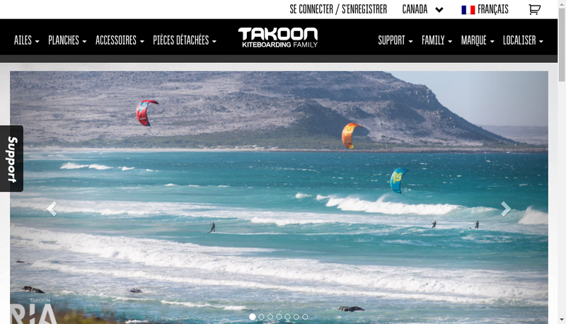 Capture d'écran du site de Takoon