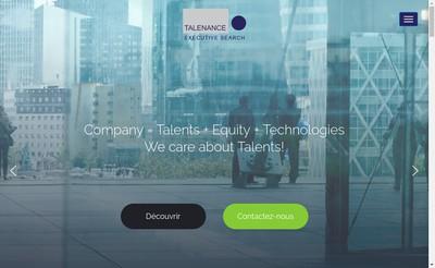 Site internet de Talenance