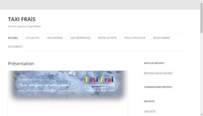 Capture d'écran du site de Taxi Frais