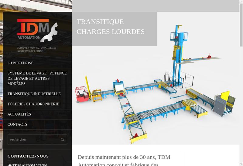 Capture d'écran du site de Societe Nouvelle Tdm Automation