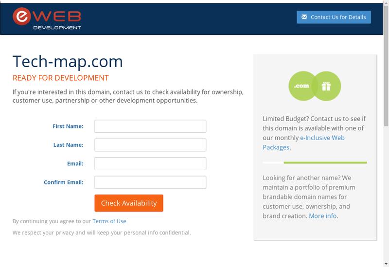 Capture d'écran du site de Tech Map