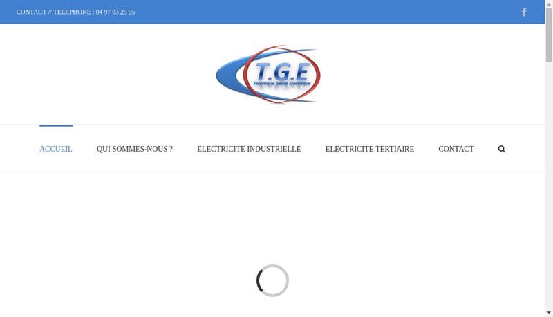 Capture d'écran du site de Technique Genie Batiment