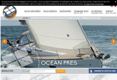 Capture d'écran du site de Technique Voile