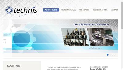 Capture d'écran du site de Technis