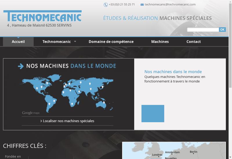 Capture d'écran du site de SARL Technomecanic
