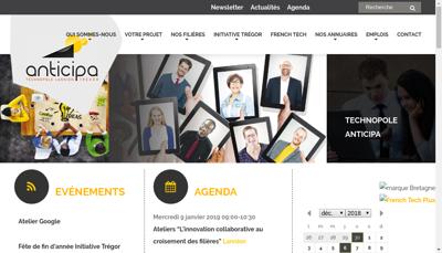 Capture d'écran du site de Agence de Devel Industriel du Tregor