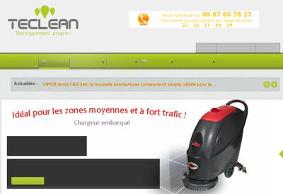Capture d'écran du site de Teclean