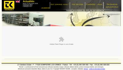Capture d'écran du site de Teknokit France