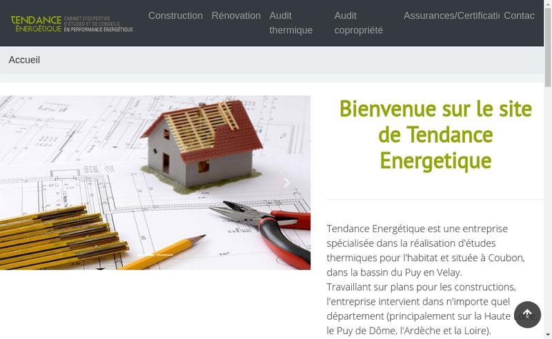 Capture d'écran du site de Tendance Energetique