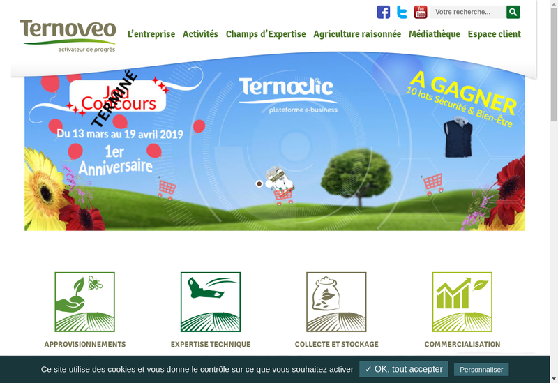 Capture d'écran du site de Ternoveo