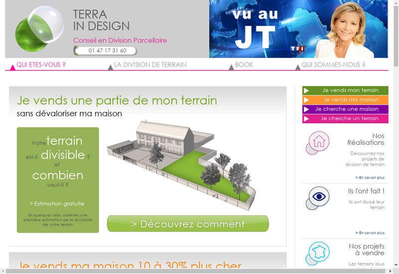 Capture d'écran du site de Terra In Design