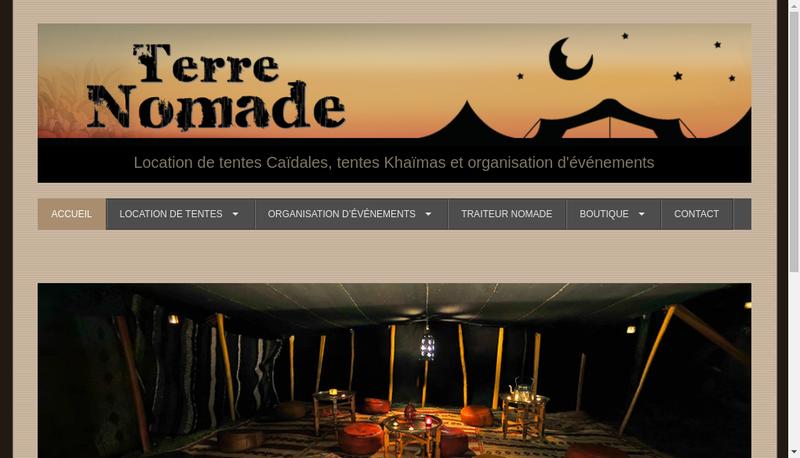 Capture d'écran du site de Terre Nomade