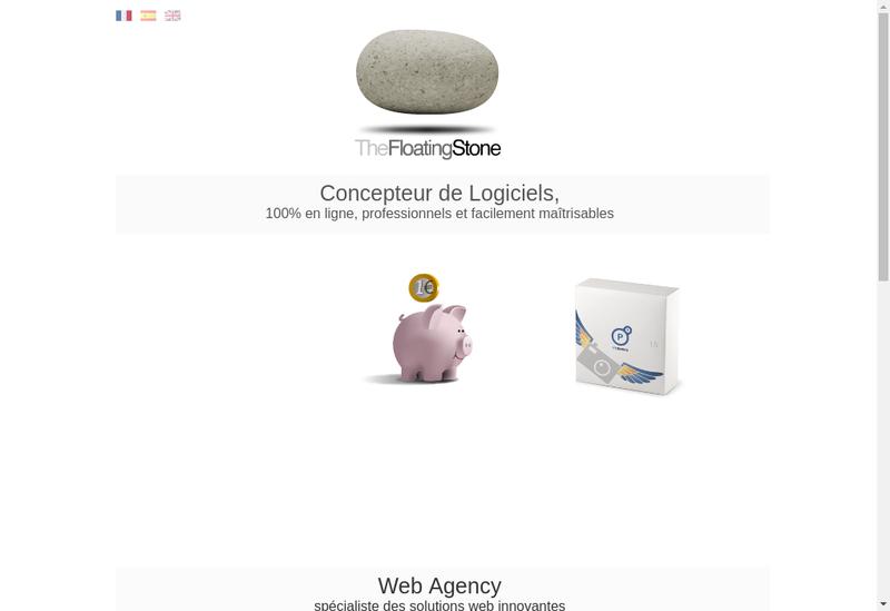 Capture d'écran du site de The Floating Stone