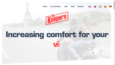 Capture d'écran du site de The Keepers