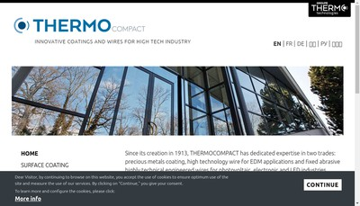 Site internet de Thermo Wire
