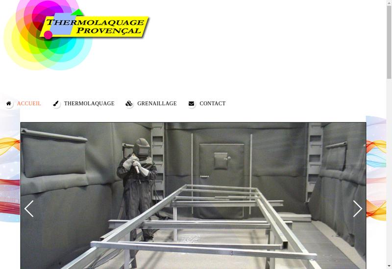 Capture d'écran du site de Thermolaquage Provencal SAS