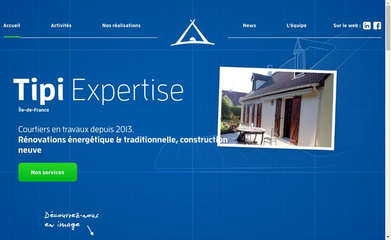 Capture d'écran du site de Tipi Expertise