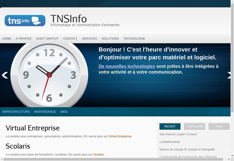 Capture d'écran du site de Tns Info