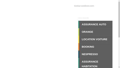 Capture d'écran du site de Tootaz