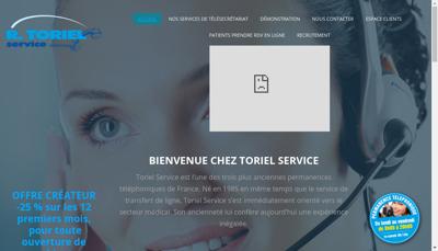 Capture d'écran du site de Toriel EURL