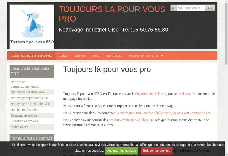 Capture d'écran du site de Toujours la Pour Vous Pro